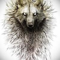 Тату волка эскизы