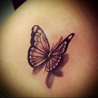 3d butterfly tattoo photo