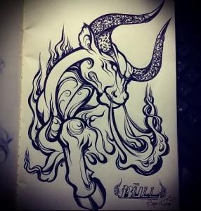 bull tattoo designs