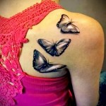 butterfly tattoo 3d photo 1
