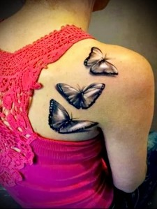 butterfly tattoo 3d photo 1