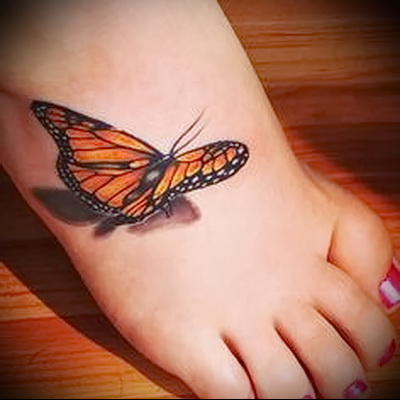 butterfly tattoo 3d photo