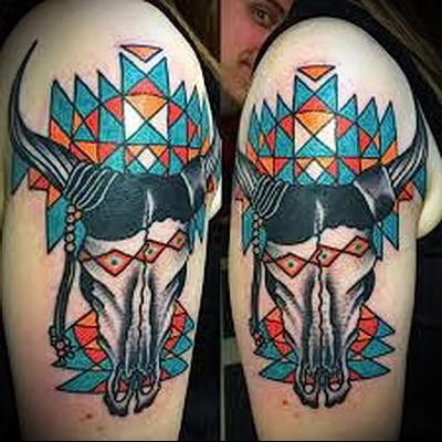 tattoo bull skull