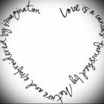 tattoo inscriptions about love