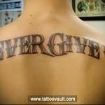 tattoo lettering on the back