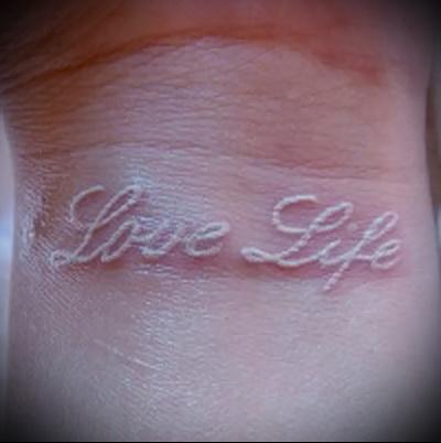 tattoo on the wrist inscriptions