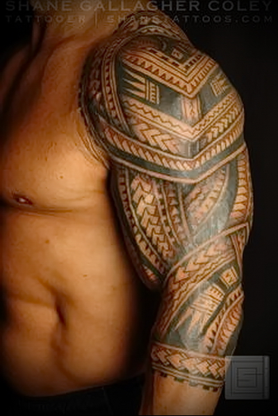 tattoo sleeve Polynesia