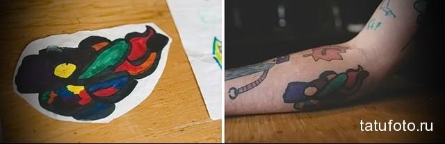 Татуировки с эскизов ребенка 3