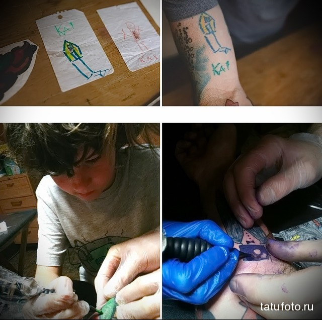 Татуировки с эскизов ребенка 4
