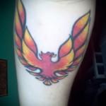 жар птица тату символом на ногу