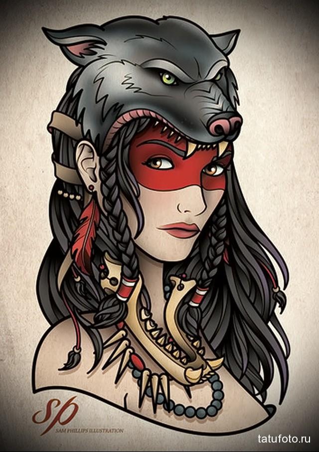 Рисунки индейцы девушка