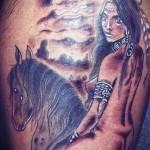 тату индеец на лошади 2