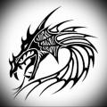 эскиз дракон тату на ноге 5
