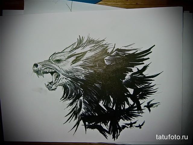 Значение татуировки ворон. Символика тату