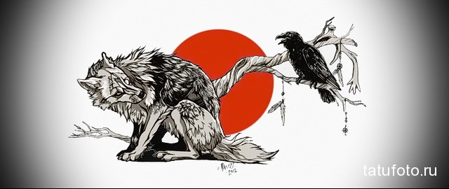 Значение татуировки ворон. Символика тату 47