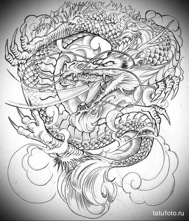рисунки драконов для тату