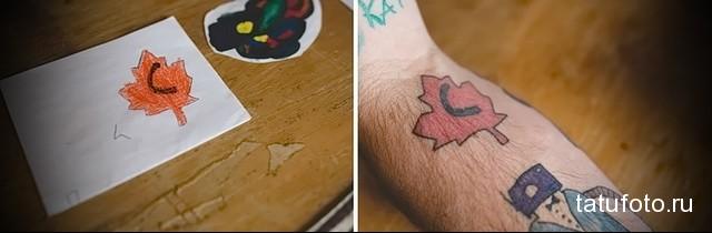 Татуировки с эскизов ребенка 2