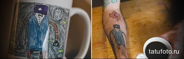 Татуировки с эскизов ребенка 5
