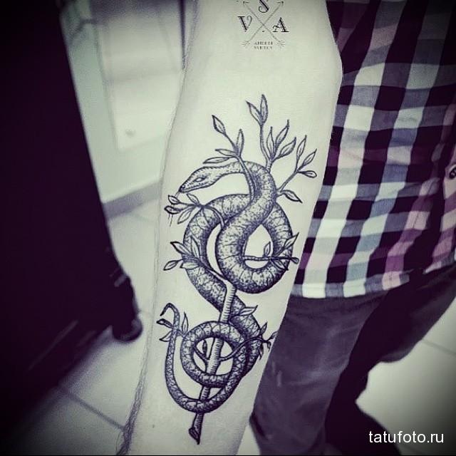тату змея на руке 4