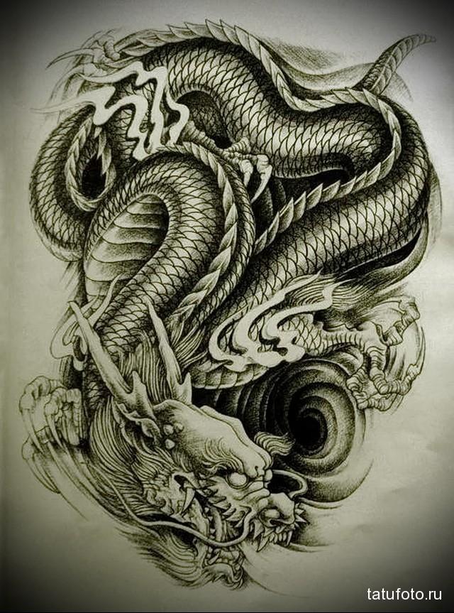 Китайский дракон арт