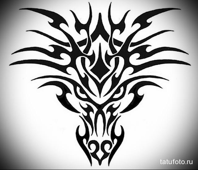 эскиз мужские тату драконы 4