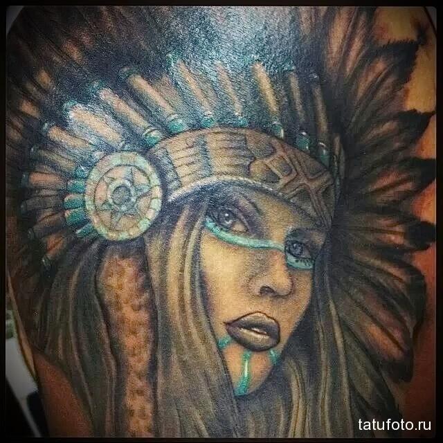 Indian girl tattoo