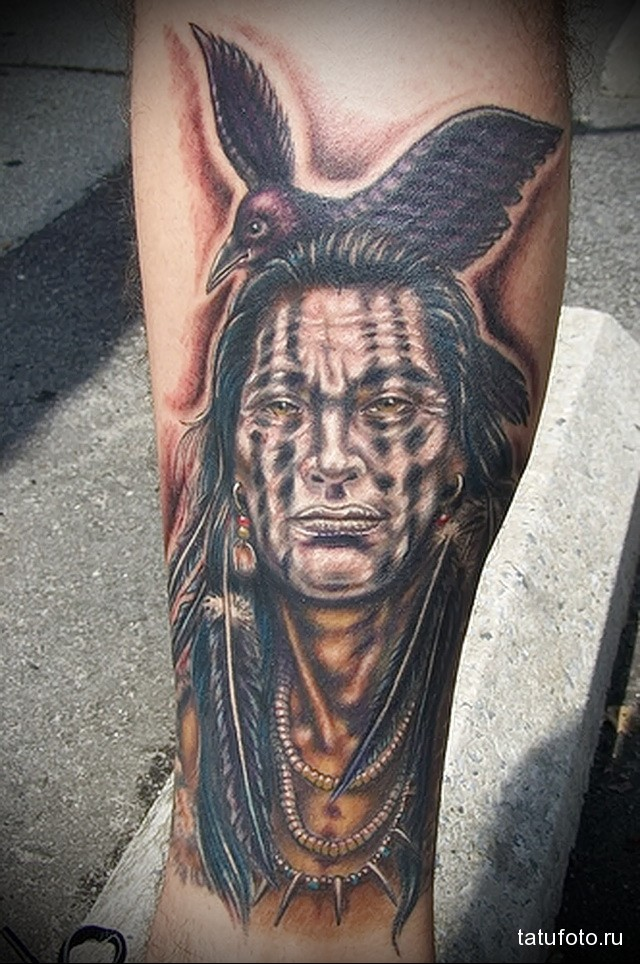 Indian tattoo on the wrist