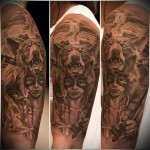Indian tattoos and Bear
