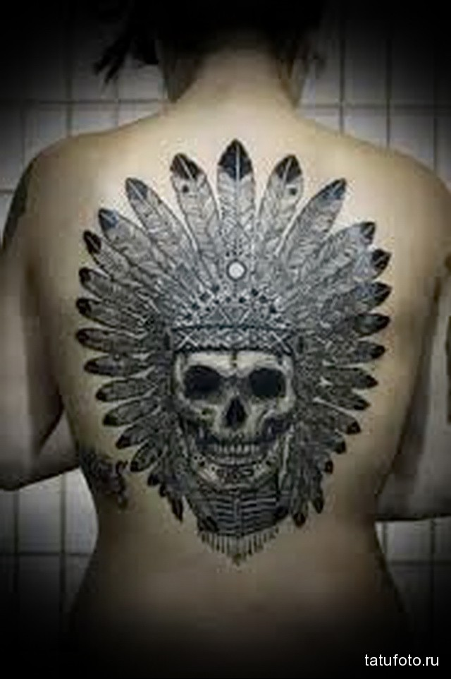 skull tattoo Indian