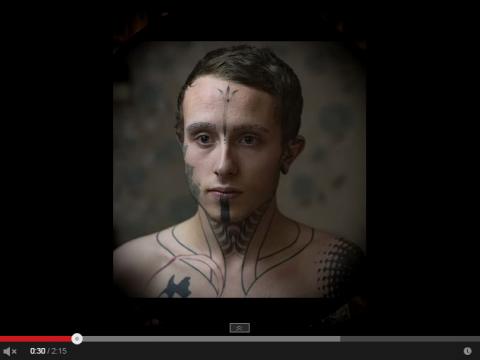 Видео подборка с фотографиями мужских татуировок на лице - заставка