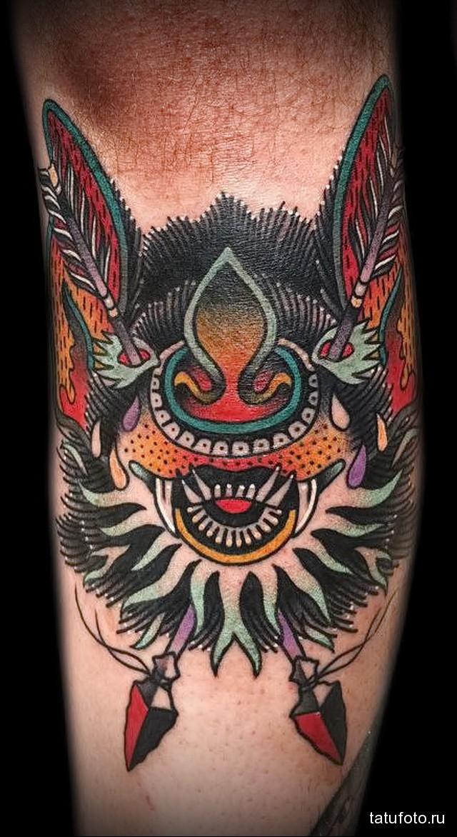 Значение татуировки летучая мышь 4