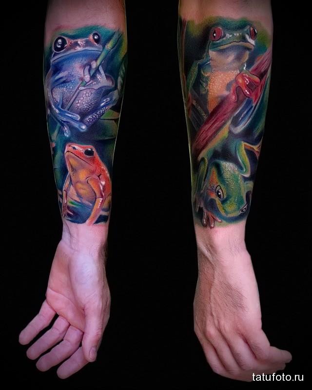 Значение татуировки лягушка 5