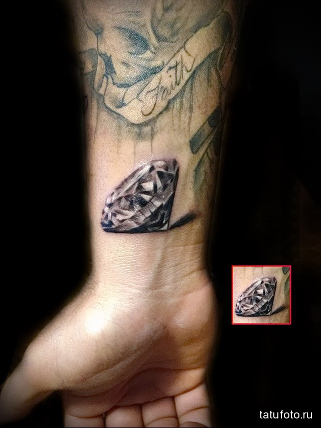 Значение тату алмаз (бриллиант) 2