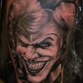 Татуировка со злобным шутом (клоуном)