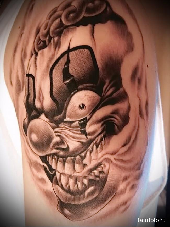 вариант татуировки с клоуном (шутом) - значение и смысл