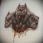 кровавый цербер - рисунок для тату