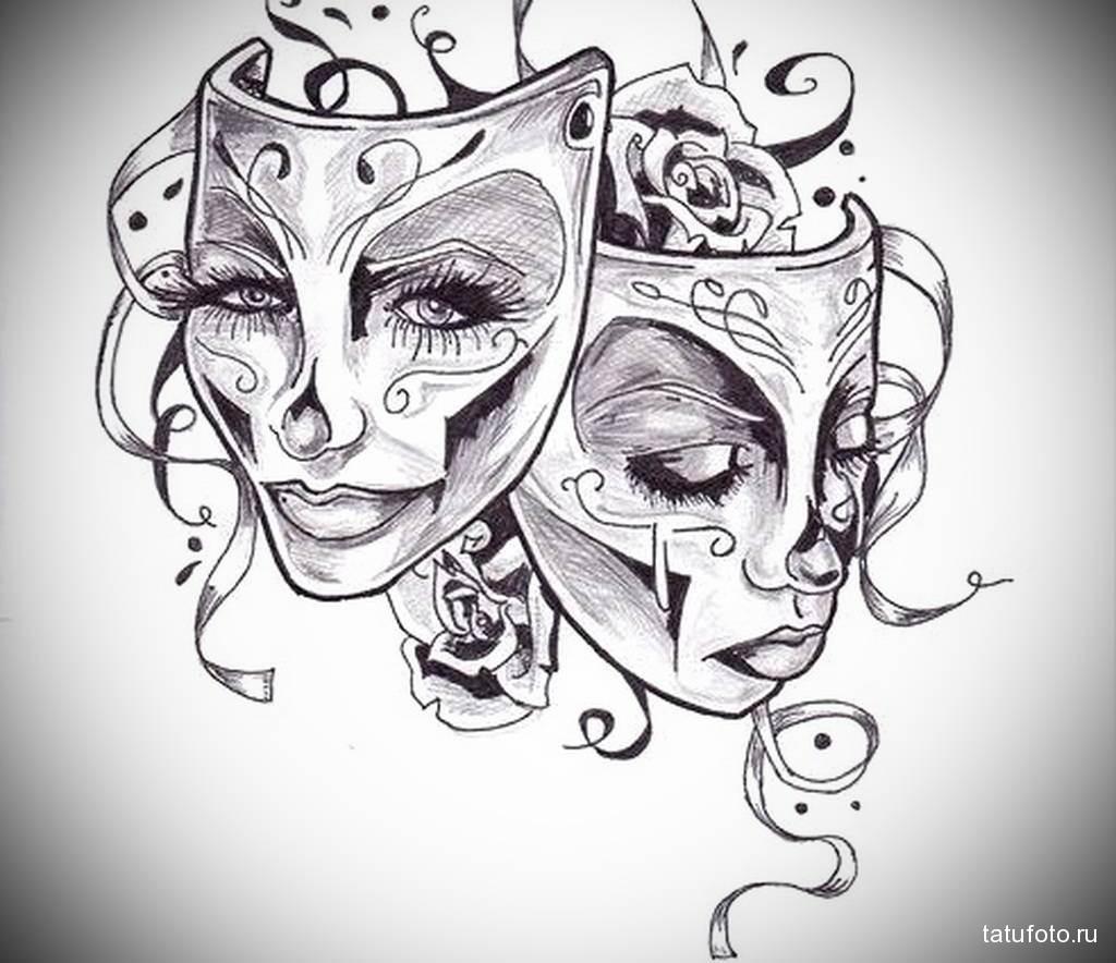 Что означают татуировка маски