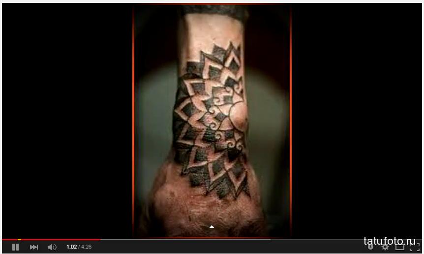 Видео с мужскими татуировками на запястье