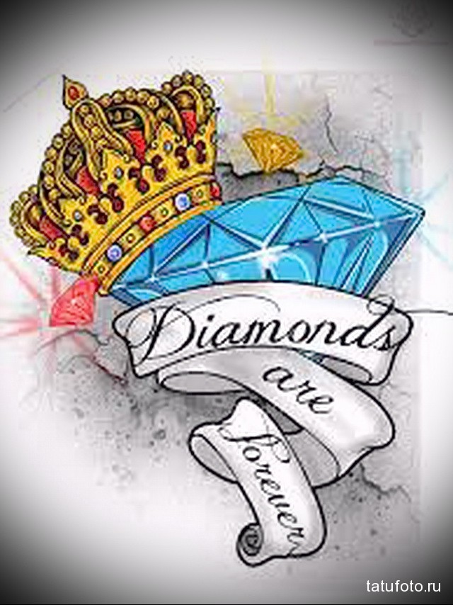 Значение тату алмаз (бриллиант) 11