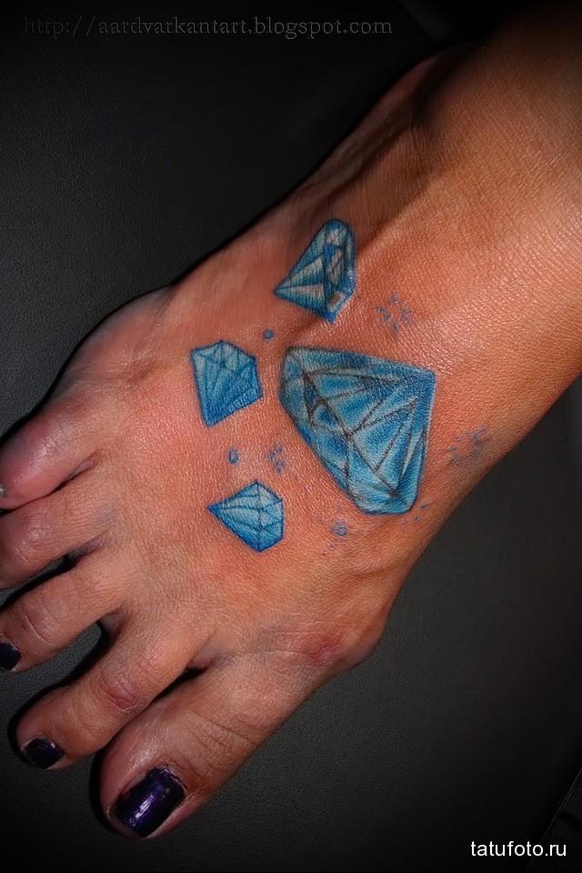 Значение тату алмаз (бриллиант) 13