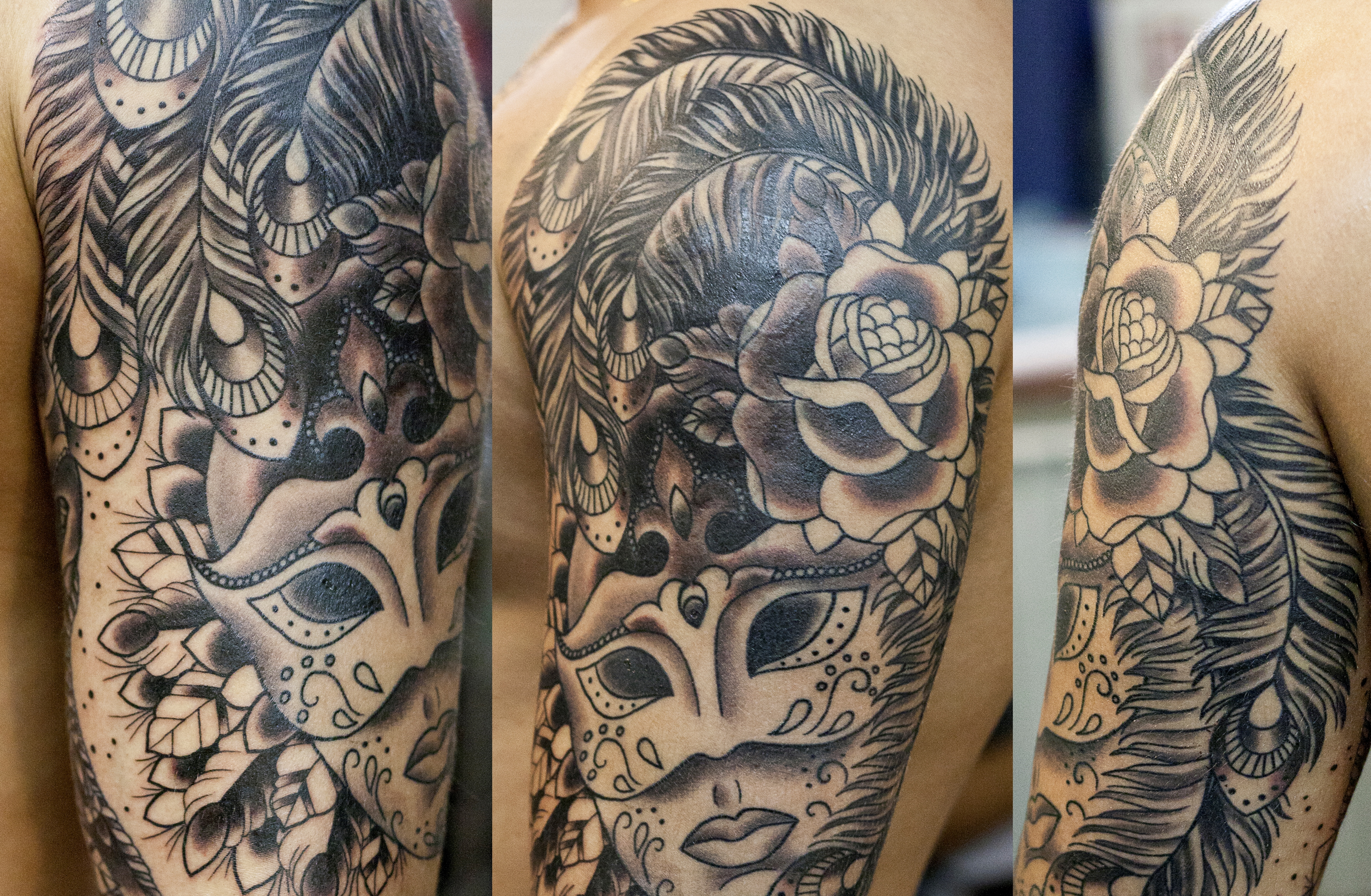татуировки маска 1