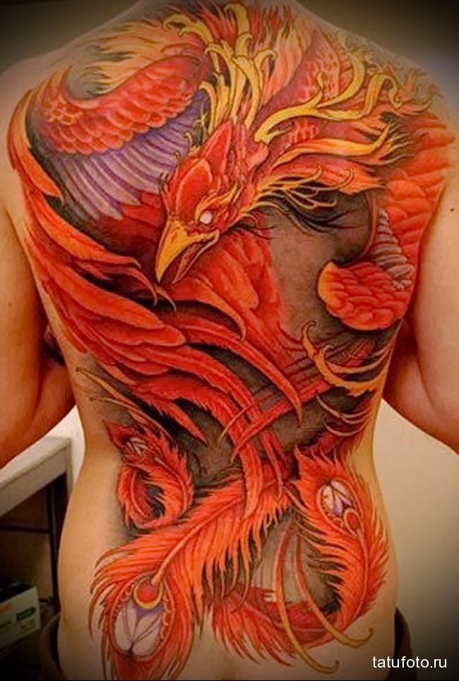 птица феникс тату эскизы значение