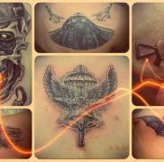 Значение военных тату – пример на фото