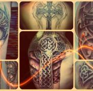 Значение тату кельтский крест – пример на фото