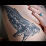 Значение тату кит - пример на фотографии