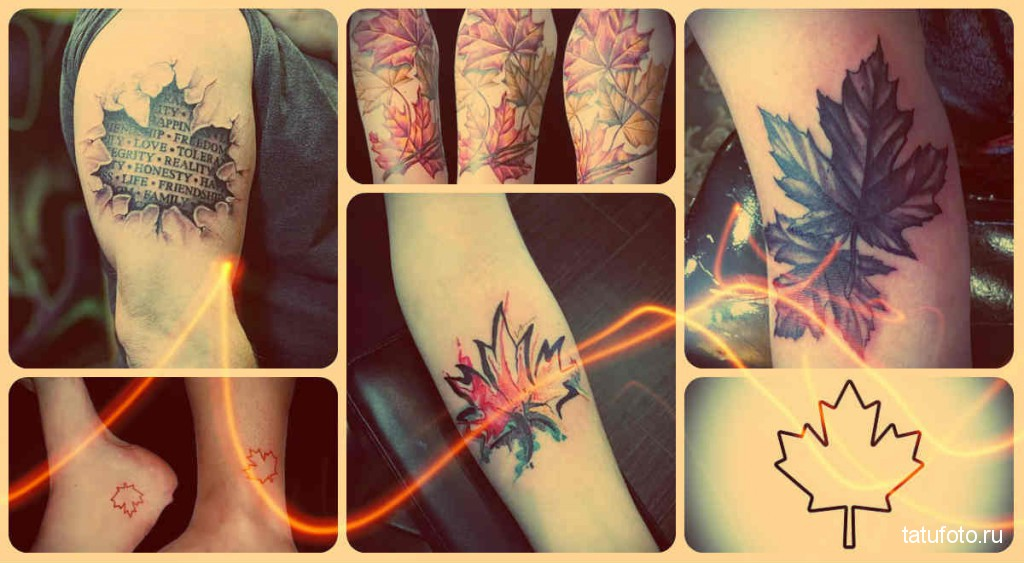 Значение тату кленовый лист - готовые примеры на фото