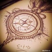 Значение тату компас 2