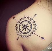Значение тату компас 4