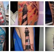 Значение тату маяк – готовый вариант на фото