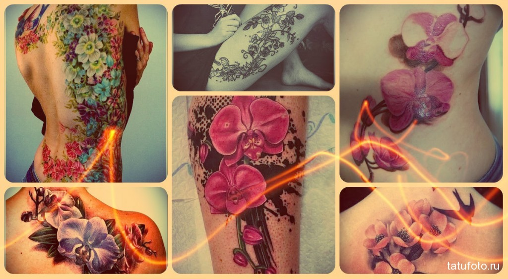 Значение тату орхидея фото